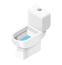 toilet bathroom furniture and house plumbing vector image