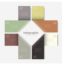 Trendy Design template for infographics website vector image
