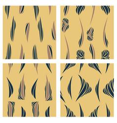 tribal background ethnic pattern set boho texture vector image