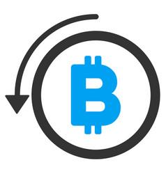 Undo bitcoin payment flat icon vector
