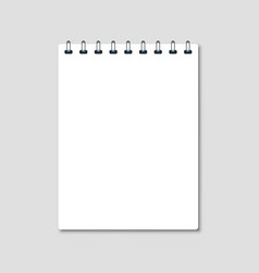 vertical white notepad vector image