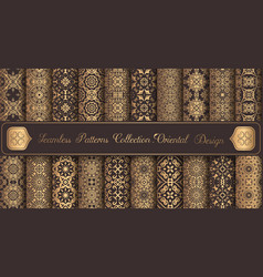 Vintage backgrounds luxury seamless patterns vector