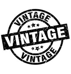 vintage round grunge black stamp vector image