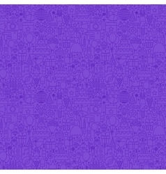 Violet Line Party Seamless Pattern vector