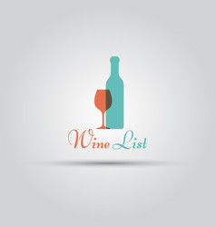 wine list isolated logo template vector image