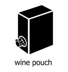 Wine pouch icon simple black style vector