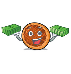 with money bag baket pie mascot cartoon vector image