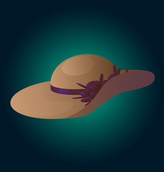 woman hat vector image