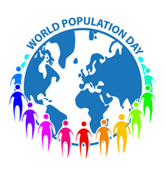 world population day sign symbol concept on white vector image