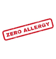 Zero Allergy Rubber Stamp vector