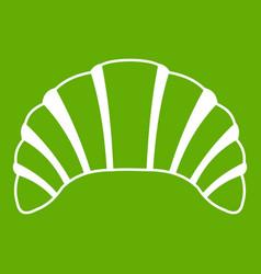 Croissant icon green vector