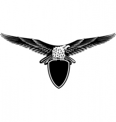 eagle with straightened wings vector image vector image
