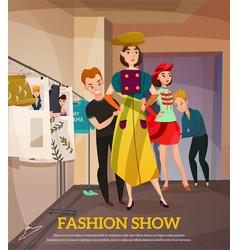 fashion show backstage vector image vector image