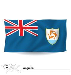 Flag of anguilla vector