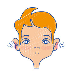 man with otitis earache illness infection vector image