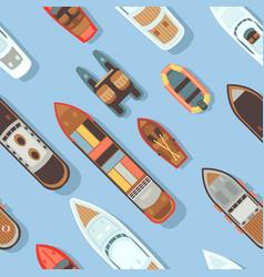 top view sea diagonal ship and shipping boat vector image