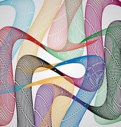 Colored wavesai vector image vector image