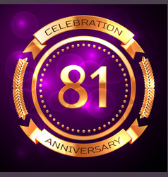 eighty one years anniversary celebration with vector image vector image