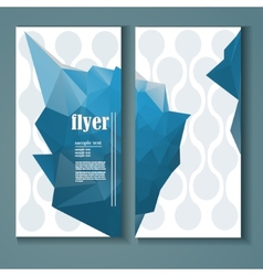 flyer with a polygonal pattern vector image vector image