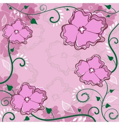Frame flowers background vector image