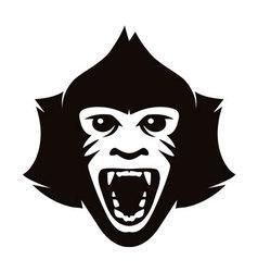 head of monkey vector image vector image