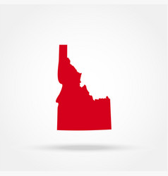 map of the us state of idaho vector image