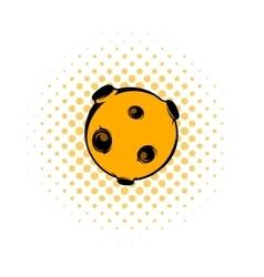 Moon icon comics style vector
