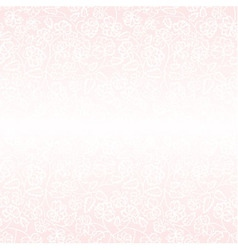 White flower pattern on pink background vector image vector image