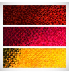 Colorful Pixel Background Set of Abstract Mosaic vector image