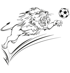 furious lion vector image vector image