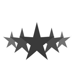 isolated gray star icon in set ranking mark vector image vector image