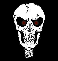 Red eyes skull vector