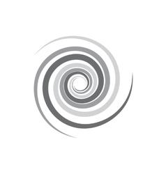 Abstract geometric spirals icon simple style vector image
