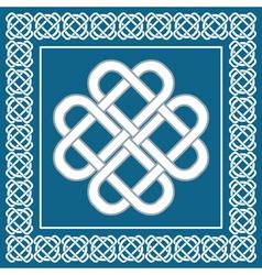 Celtic love knotirish symbol of good fortune vector image