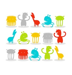 Creatures Pack vector image vector image