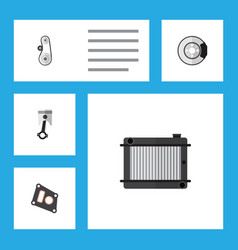 Flat parts set of cambelt conrod heater and vector