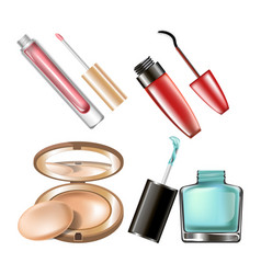 makeup cosmetics make-up accessory icons vector image vector image