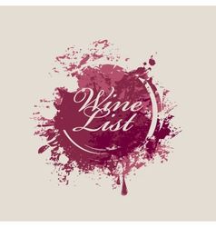 wine list 007 vector image vector image