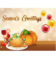 a thanksgiving card template vector image