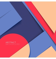 Abstract background Multicolored shapes shadow vector image