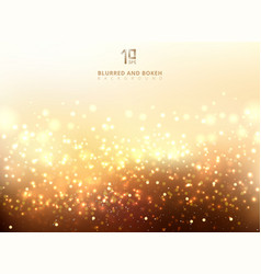 abstract golden light glittering and bokeh vector image