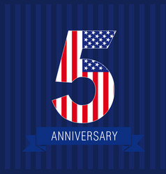 anniversary5usa vector image