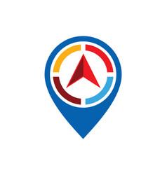 Arrow position navigation logo vector