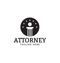 attorney law logo design template isolated vector image