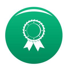 award icon green vector image