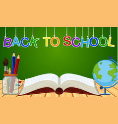 Background theme for back to school vector