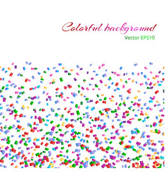 background with isolated confetti vector image vector image