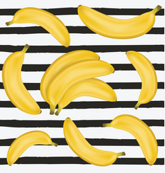 Banana seamless pattern vector