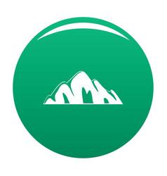 beautiful mountain icon green vector image