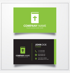 Bible icon business card template vector